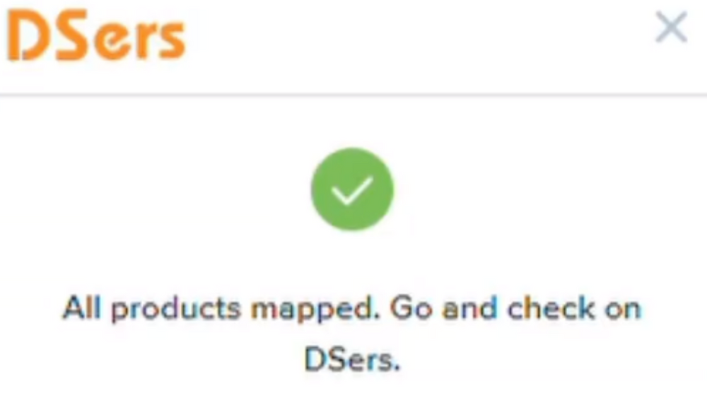 Migrate data from ShopMaster with Woo DSers - Successful synchronization notification - Woo DSers