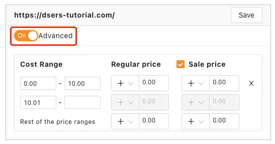 Pricing rules with Woo DSers - Advanced Pricing Rules - Woo DSers