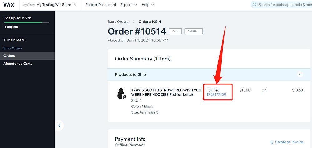 Fulfill multiple orders from start to finish with Wix DSers - tracking number - Wix DSers