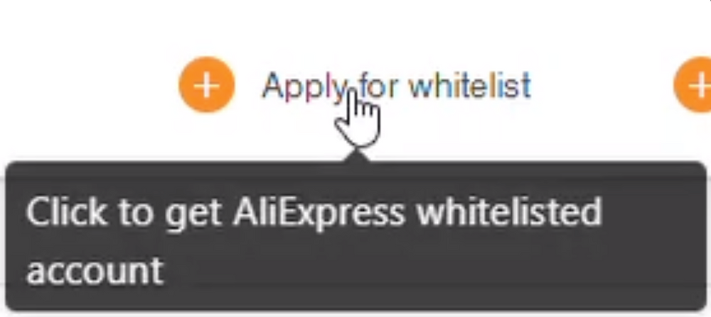 AliExpress whitelist introduction with Woo DSers - Apply for whitelist - Woo DSers
