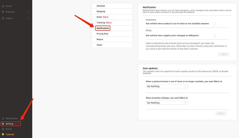 Configurar notificações com Woo DSers - 1 - Woo DSers