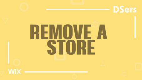 Remove a Wix store