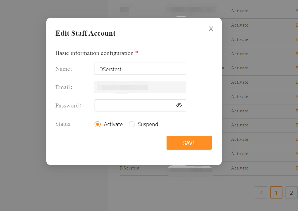 Add Staff Account to your Woo DSers - edit your staff account - DSers