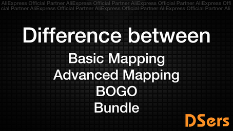 Difference between Basic Mapping / Advanced Mapping / BOGO / Bundle