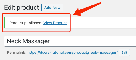 Create a product on WooCommerce with Woo DSers - Product Published - Woo DSers