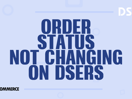 Order status not changing on DSers
