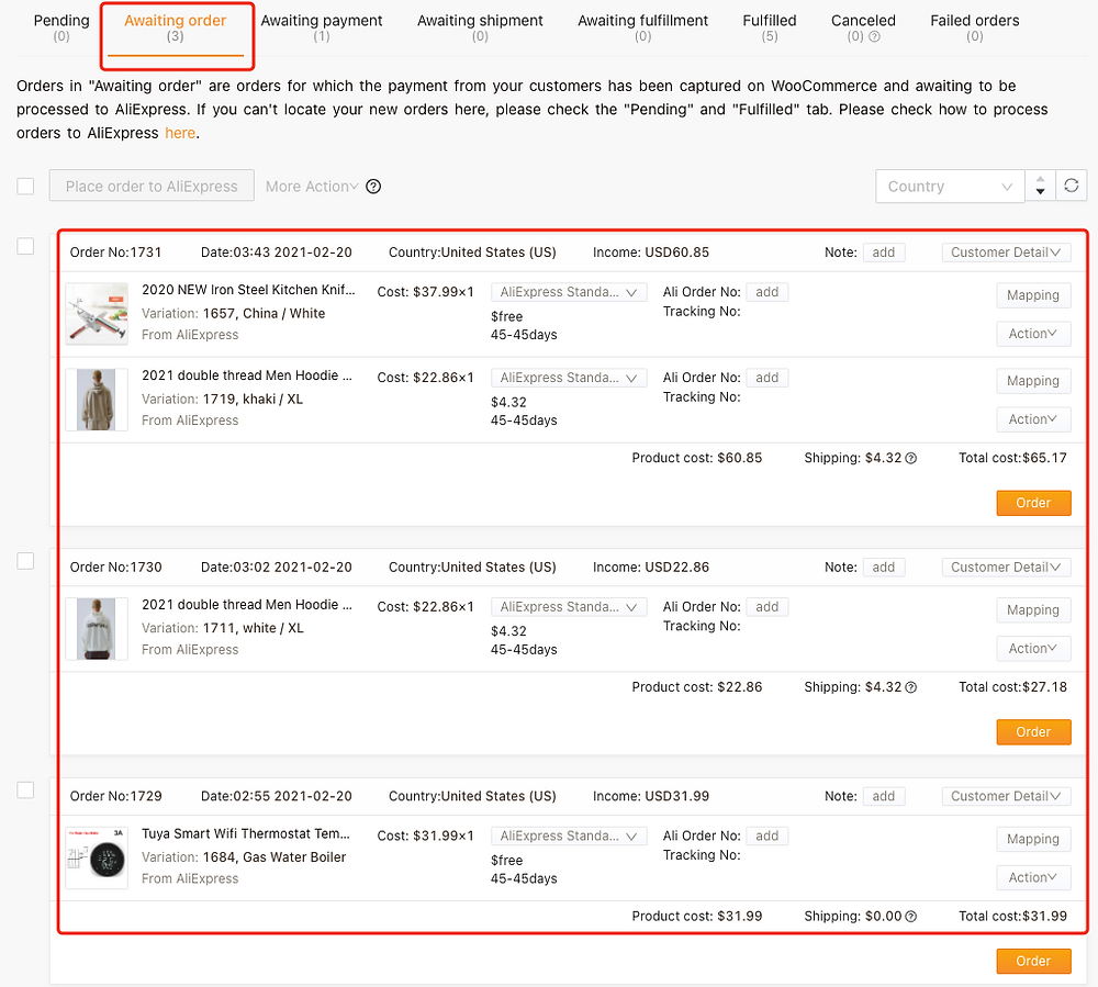 Cancelar o processamento de um pedido no WooCommerce com Woo DSers - 14 - Woo DSers