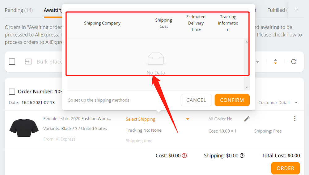 Why can't I select a shipping method with Wix DSers - country not supported - Wix DSers