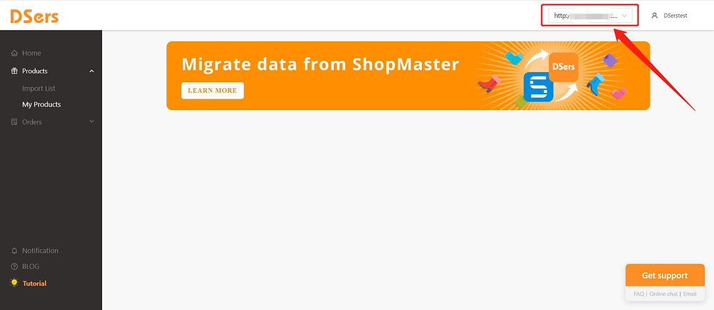 Add Staff Account to your Woo DSers - list of stores - DSers