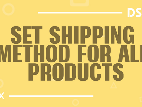 Set shipping method for all products