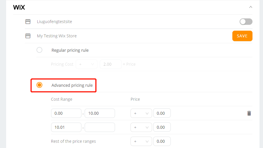 Pricing Rule with Wix DSers - activate advanced Pricing Rule - Wix DSers