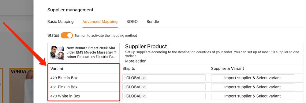 Advanced Mapping with Woo DSers - Variations of your product - Woo DSers