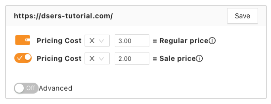 Pricing rules with Woo DSers -  Pricing Rules Example - Woo DSers