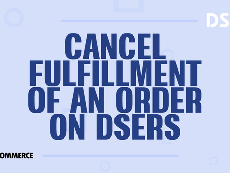 Cancel fulfillment of an order on Woo DSers
