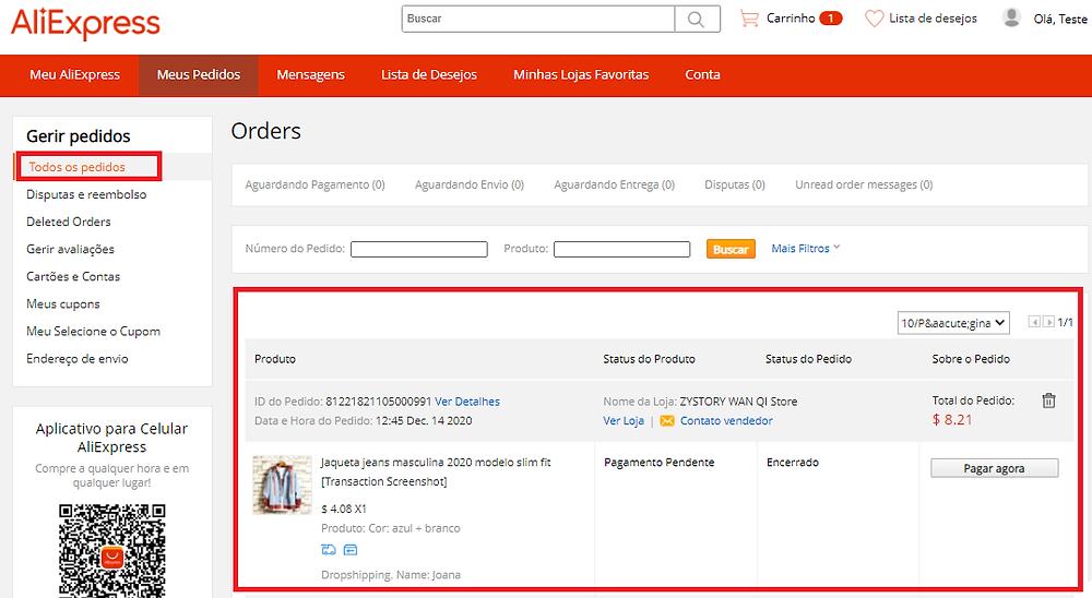 Pagar um pedido no AliExpress com Woo DSers - 4 - Woo DSers