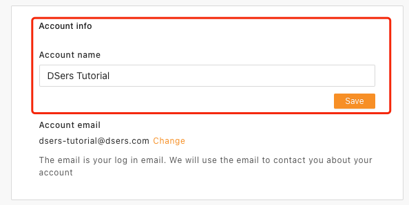 Change account name with Woo DSers - Find account info - Woo DSers