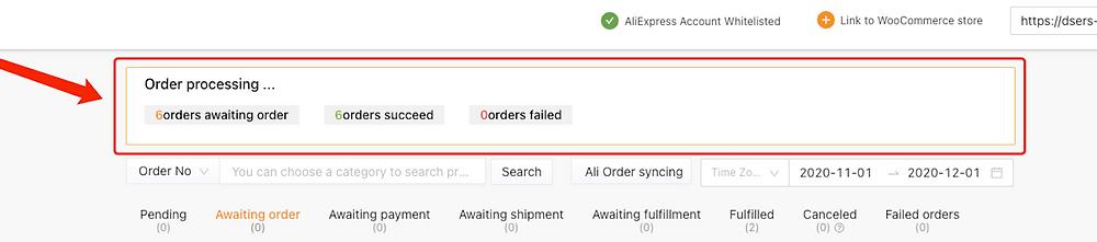 Fazer múltiplos pedidos do WooCommerce no AliExpress com Woo DSers - 6 - Woo DSers