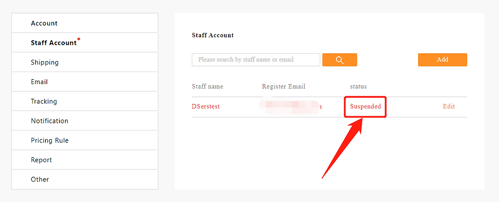 Add Staff Account to your Woo DSers - suspended staff account - DSers