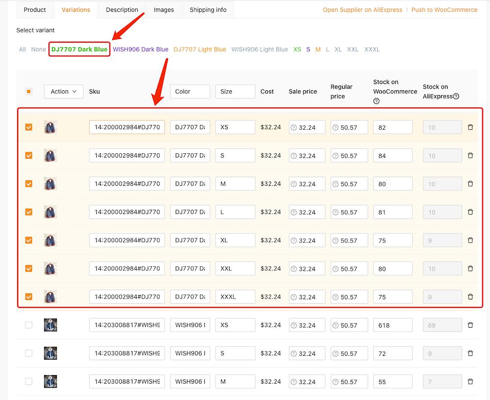 Editar um produto no DSers com Woo DSers - 11 - Woo DSers