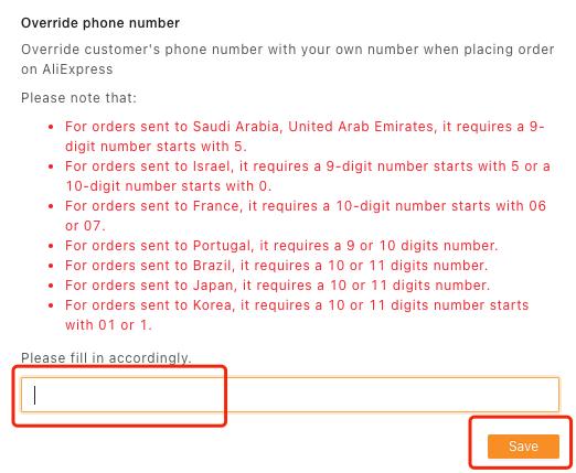 Especificações de pedidos para Arábia Saudita e EAU com Woo DSers - 2 - Woo DSers