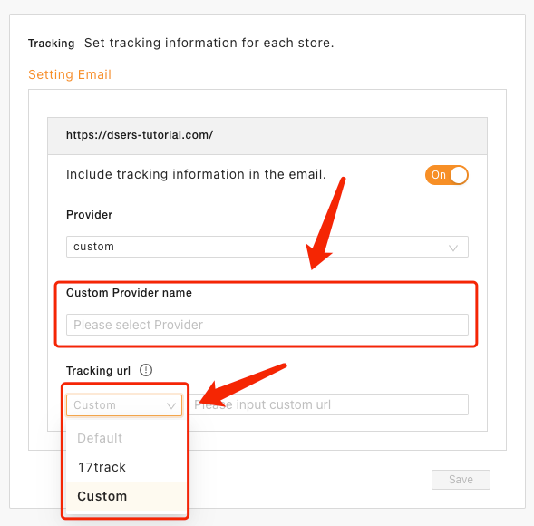 Set tracking for your orders with Woo DSers - Custom Provider and Tracking URL - Woo DSers