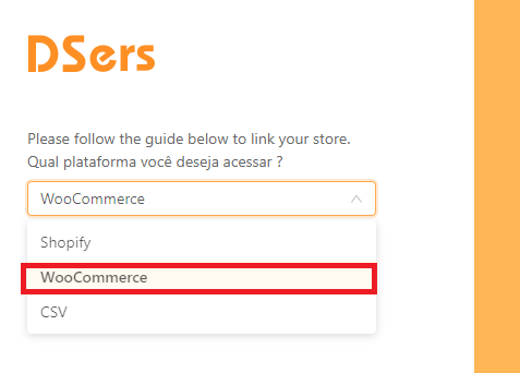 Como adicionar uma loja WooCommerce - 4 - DSers