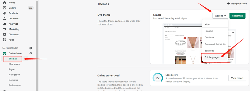 Orders to Chile specifications with Shopify DSers - Access customize - Shopify DSers