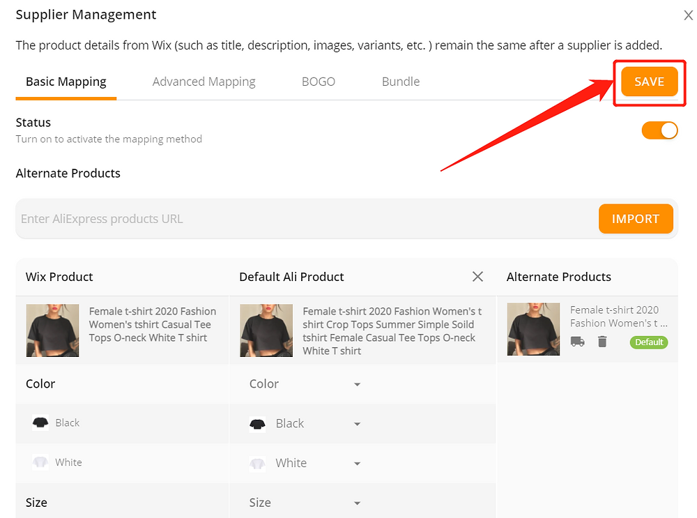 Remove Ships From of a product with Wix DSers - save changes - Wix DSers