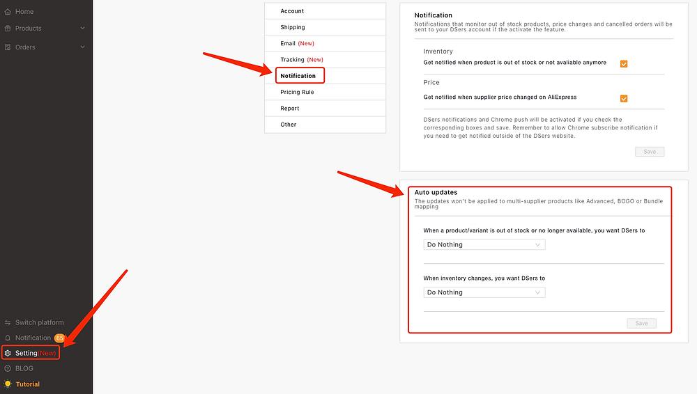 Configurar notificações com Woo DSers - 17 - Woo DSers