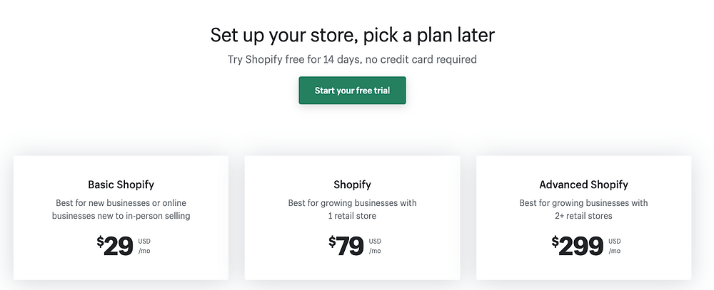 How much does it cost to start dropshipping - Shopify pricing - DSers