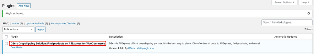 Manually install DSers on WordPress - successfully installed - Woo DSers