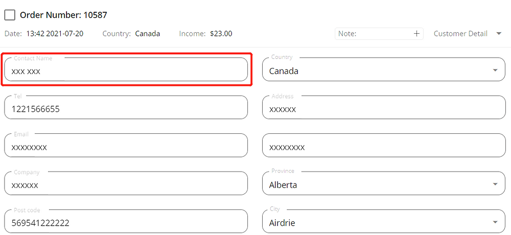 Orders to Canada specifications with Wix DSers - enter right name - Wix DSers
