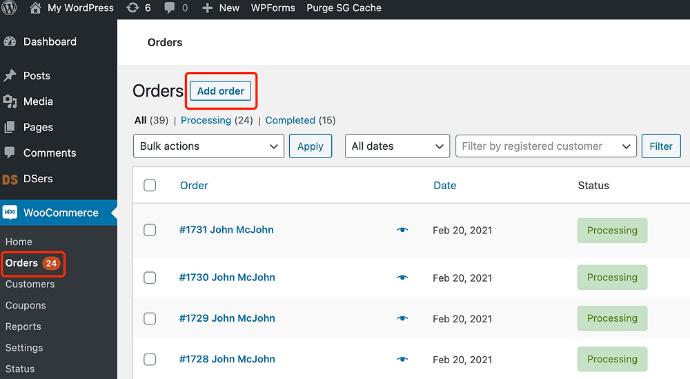 Change quantity of an order with Woo DSers - Add order - Woo DSers