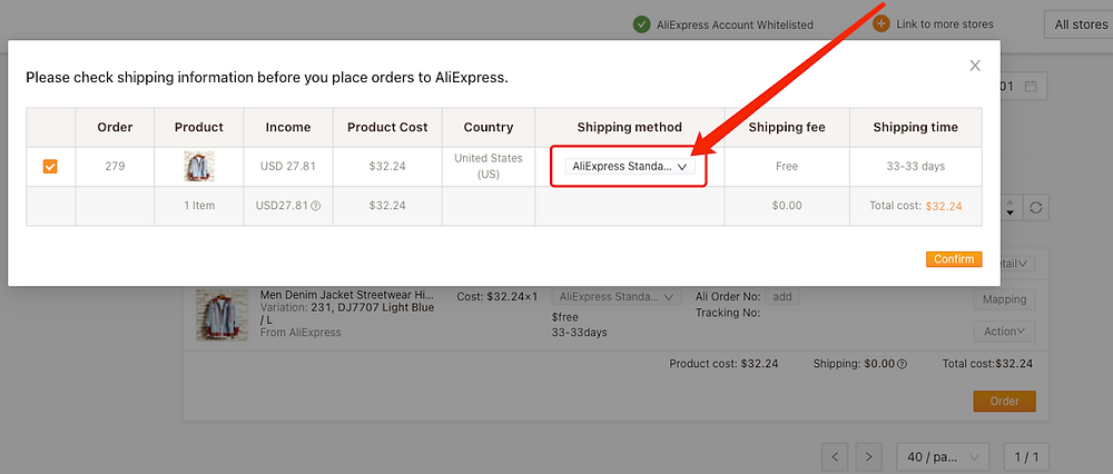 Place an order from WooCommerce to AliExpress with Woo DSers - Check Shipping Setting - Woo DSers