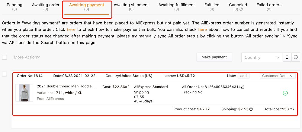 Refazer pedidos cancelados no AliExpress com Woo DSers - 7 - Woo DSers