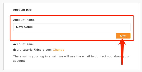 Change account name with Woo DSers - Click Save - Woo DSers