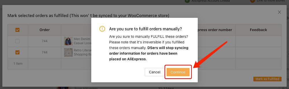 Fazer parte de um pedido com Woo DSers - 5 - Woo DSers