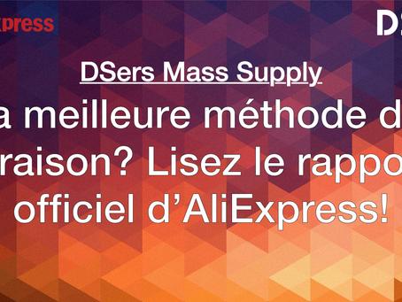 La meilleure méthode de livraison? Lisez le rapport officiel d'AliExpress!