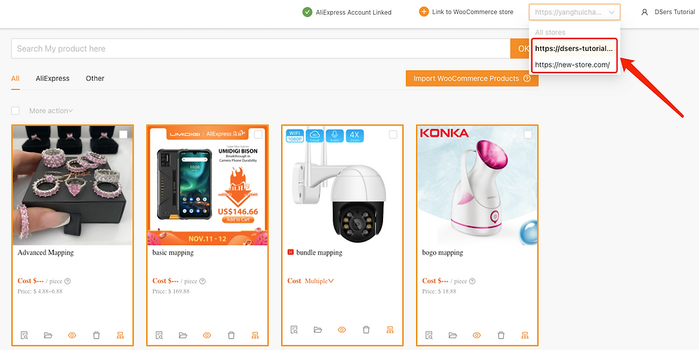 Adicionar uma loja WooCommerce com Woo DSers - 10 - Woo DSers