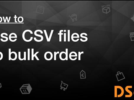 CSV bulk order
