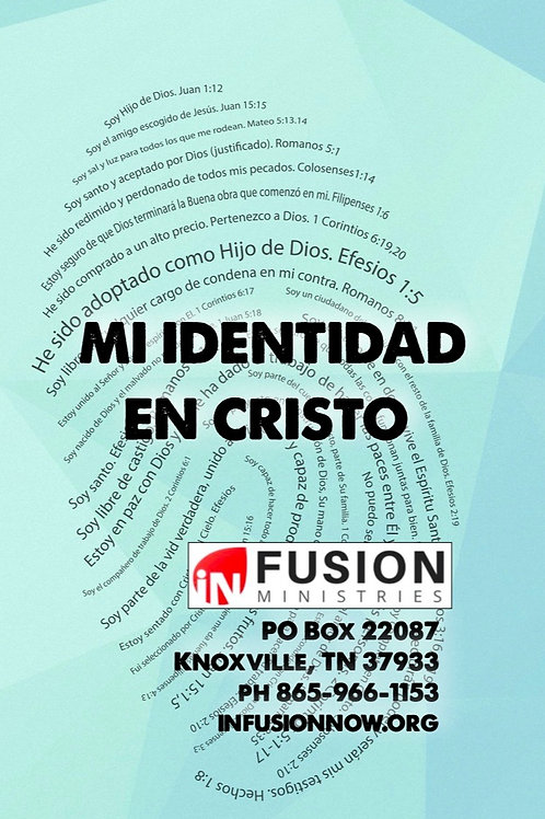 """""""Mi Identidad en Cristo"""" Tarjeta Triple (Cant. 10)"""