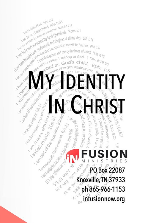 """Who I Am in Christ"" Tri-fold Cards (Qty. 10)"