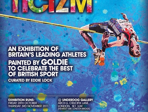 Athleticizm - An exhibition of Britain's Leading Athletes by Goldie