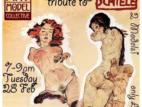 28th Feb: Life Drawing Tribute to Egon Schiele