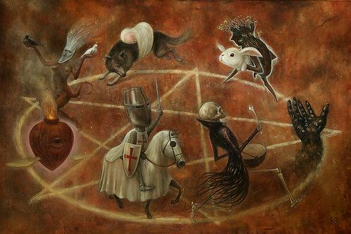 Here We Go Round The Pentagram By Brad Gray