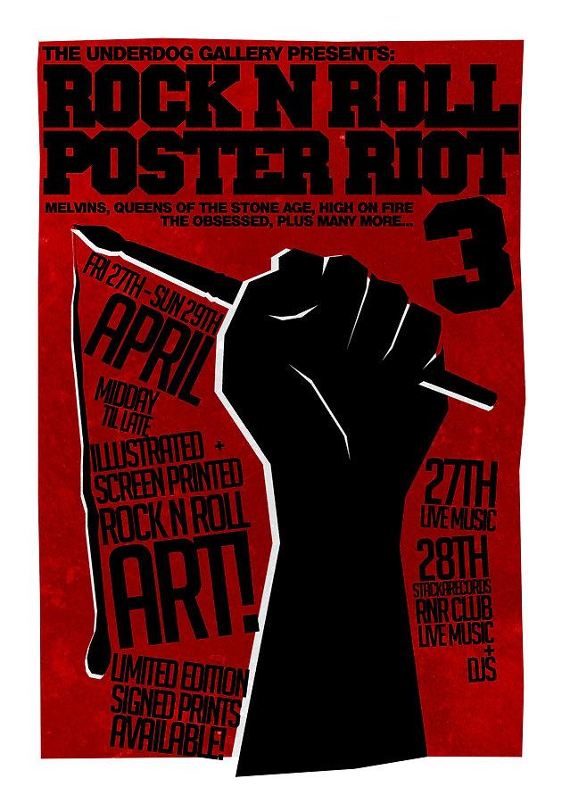 Fri 27th - Sun 29th Apr: Rock n' Roll Poster Riot 3 | The