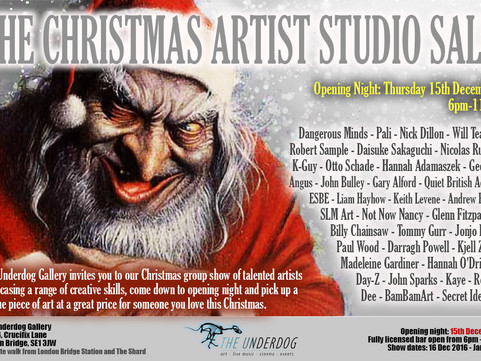 15th Dec: The Christmas Artist Studio Sale