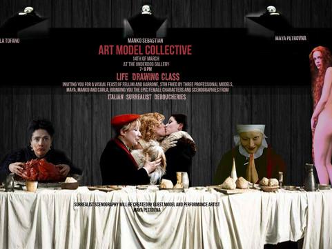 14th March: Life Drawing - Surrealist Italian Cinema