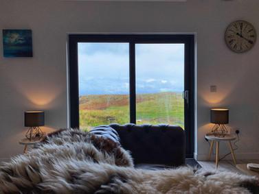 Sofa and sliding doors