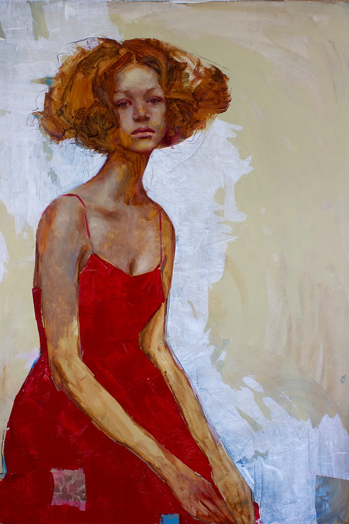 Woman In Red By Rosso